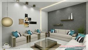 Awesome 3d interior renderings kerala home design and for Interior design in living room pictures