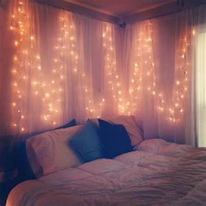 Stunning, Decoration, Of, Twinkle, Lights, In, Bedroom
