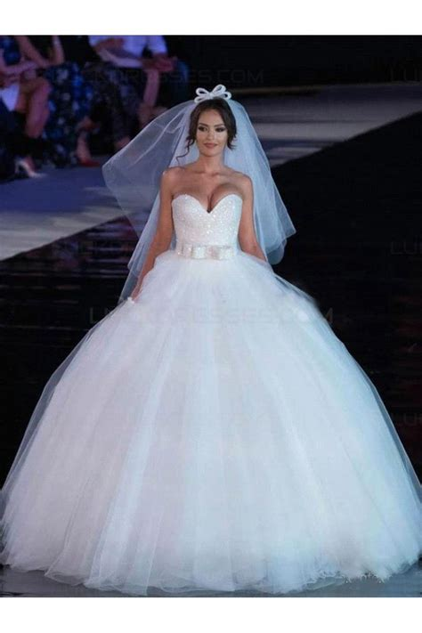 Ball Gown Sweetheart Tulle Wedding Dresses Bridal Gowns