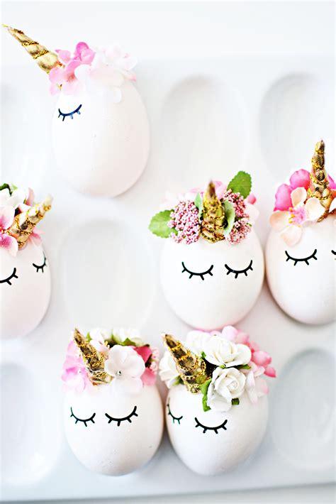 diy unicorn easter eggs  inspiration