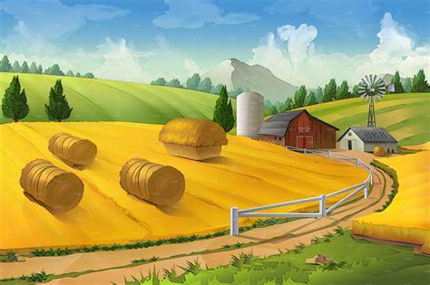 farm landscape pictures farm landscape illustrations creative market