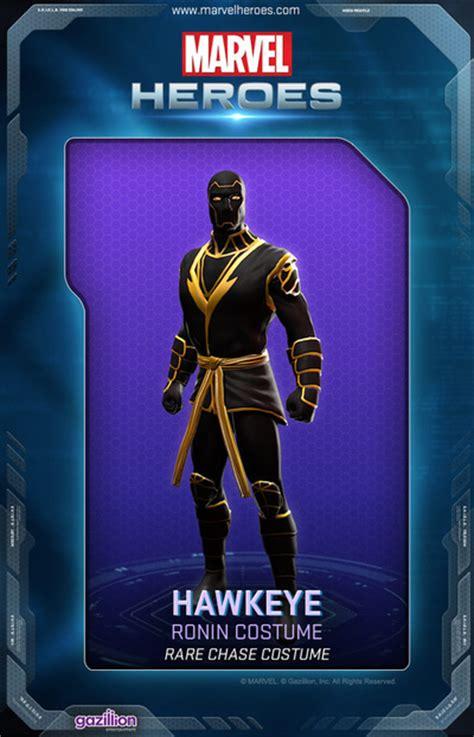 Hawkeye Marvel Heroes Complete Costume List