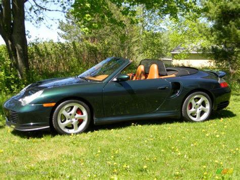 Forest Green Metallic 2004 Porsche 911 Turbo Cabriolet