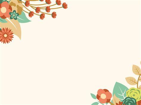 orange floral summer powerpoint template