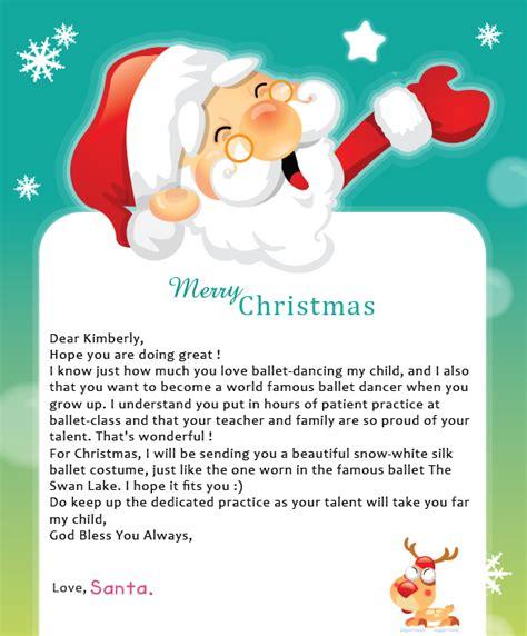 letter  santa  samples letters  santa