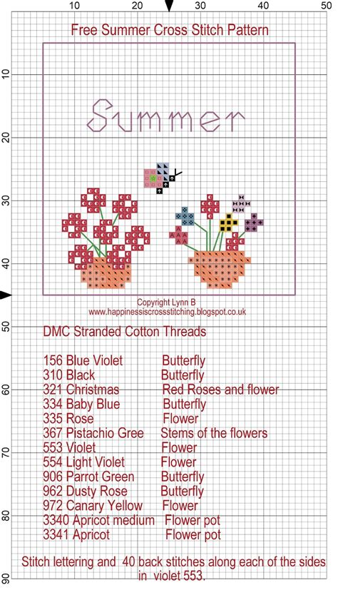 Happiness Is Cross Stitching  Free Summer And Autumn Cross Stitch Patterns
