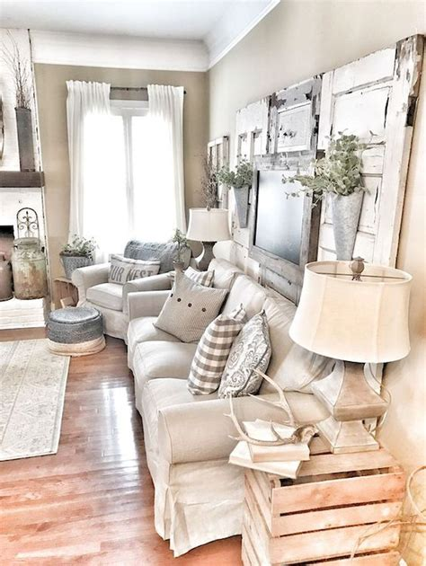 80 Cozy Rustic Farmhouse Living Room Remodel and Design