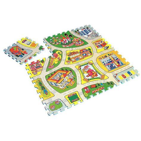 tapis de sol puzzle puzzle routier de sol en pvc 92x92 cm tapis de jeu sur planet eveil