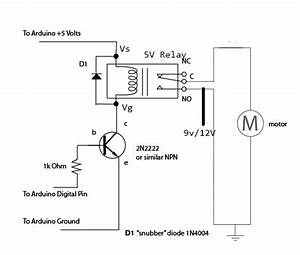 Relay Connection With Motor