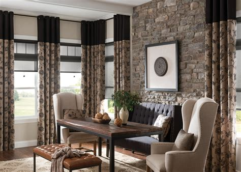Blinds With Drapes - ways to mix and match curtains with blinds zebrablinds