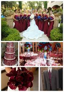 Blue and Maroon Wedding Colors