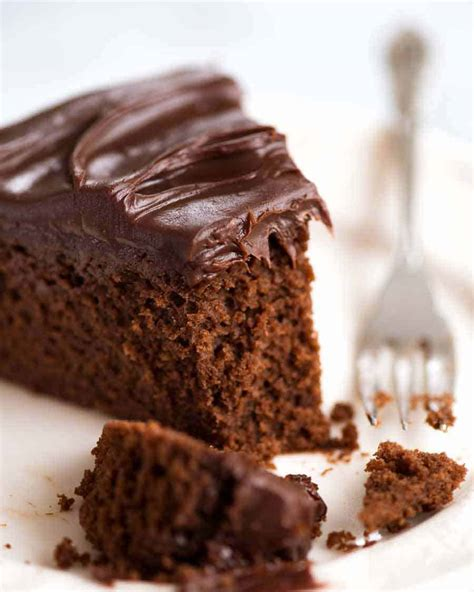 easy chocolate fudge cake recipetin eats