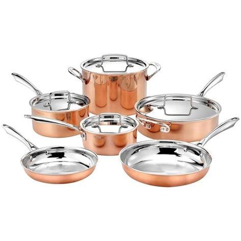 shop cuisinart  piece tri ply copper cookware set