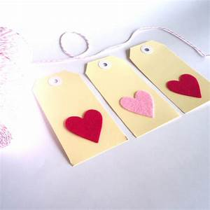 make your own 10 heart gift tags felt With create your own favor tags