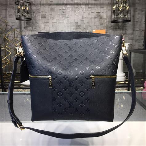 louis vuitton  melie monogram empreinte leather black