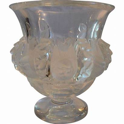 Lalique Crystal Vase Glass Birds Bowl Frosted