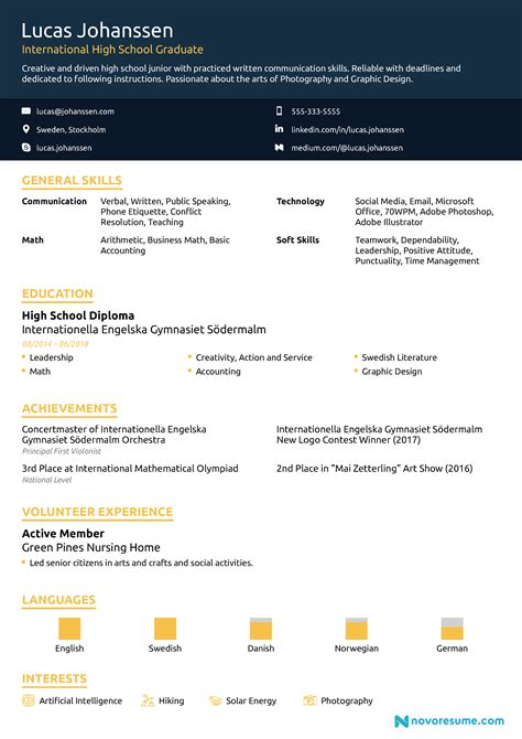 High School Resume by High School Resume 2019 Guide Exles