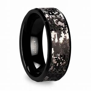 Digital camo men39s wedding ring in tungsten for Digital wedding ring