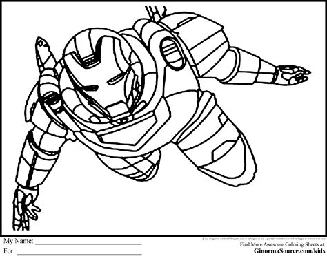 The Avengers Coloring Pages Ironman Coloring Pages