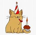 Clip Art Cat Birthday Clip Art - Cat With A Birthday Hat ...