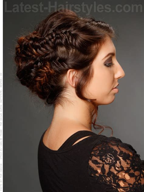 herringbone honey lovely braided style for prom