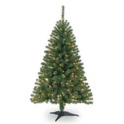 4 ft pre lit hillside pine artificial christmas tree clear lights by ashland