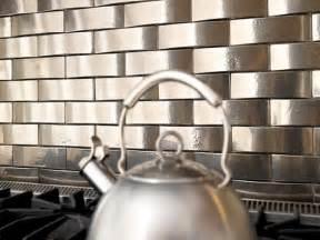 metal tile backsplashes hgtv - Metal Kitchen Backsplash