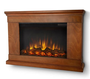 jackson pecan slim electric fireplace