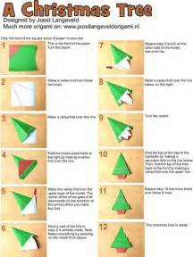 origami christmas tree and ornaments instructions origami paper monster blog