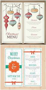 Retro Christmas and New Year menu template | Free download