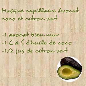 Masque Capillaire Huile De Coco : latys masque capillaire avocat coco et citron vert ~ Melissatoandfro.com Idées de Décoration