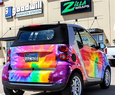 Smart Car Rainbow Car Wraps | Vinyl wrap car, Car wrap, Car paint jobs