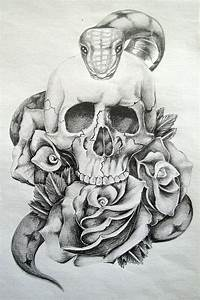 Skull and Roses by GriffonGore on DeviantArt