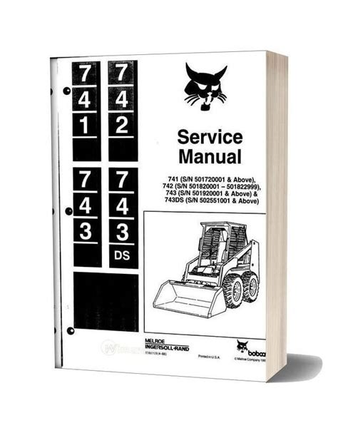 Bobcat 741 Wiring Diagram by Bobcat 741 742 743 743ds Service Manual