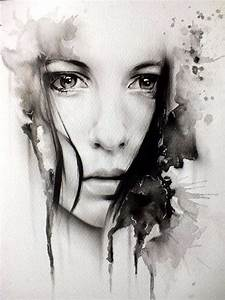 Woman Face with sad eyes Art | AaaaaaaaaArt Drawings ...