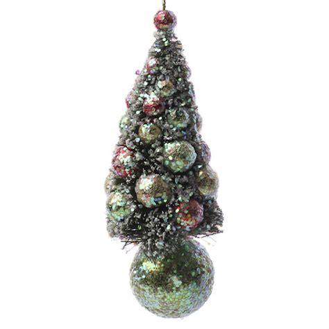 christmas bottle brush tree ornament christmas ornaments