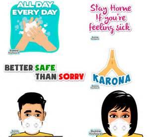 stickers covid bobble awareness launches spreading keyboard coronavirus techvorm fight