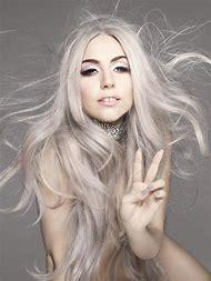 Lady Gaga Silver Hair