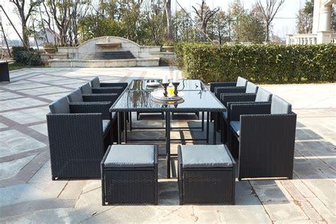 beautiful salon de jardin en table de jardin résine tressée encastrable 12 places