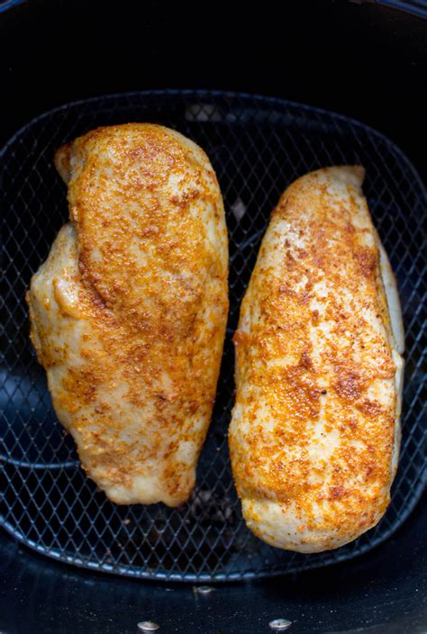 fryer chicken air breasts breast basic recipe recipes cook fried thin carmyy travel eat takes oven frier