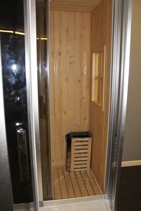 deluxe shower dry sauna combo system steam cabin