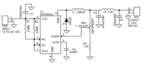 Step Down Converter Using Circuit