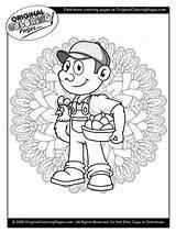 Coloring Farmer sketch template