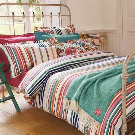 Joules Deckchair Stripe Luxury Bed Linen  Quality Striped