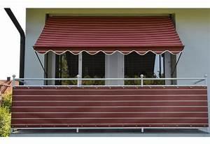 Angerer freizeitmobel klemmmarkise weinrot weiss for Markise balkon mit tapeten hornbach baumarkt