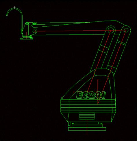 robot palletizer fuji dwg block  autocad designs cad