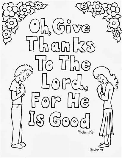 Psalm Coloring Thanks Give Adron Mr Bible