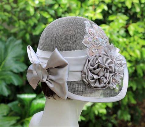 hand crafted  vintage style summer cloche wedding hat