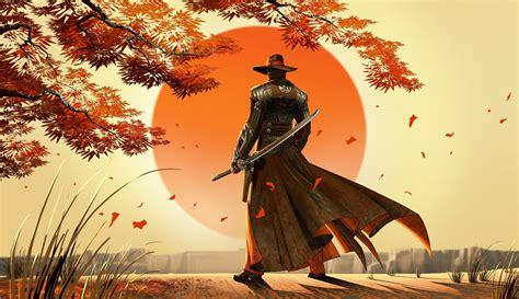 artwork fantasy art cowboys samurai japan wallpapers