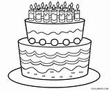 Cake Coloring Birthday Pages Printable Cool2bkids sketch template